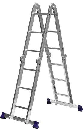 Лестница-трансформер Сибин, число ступеней 4 х 3, алюминий, макс. нагрузка 150 кг (38851), фото 2