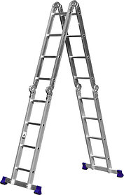 Лестница-трансформер Сибин, число ступеней 4 х 4, алюминий, макс. нагрузка 150 кг (38852)