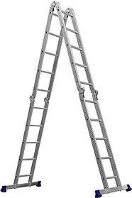 Лестница-трансформер Сибин, число ступеней 4 х 5, алюминий, макс. нагрузка 100 кг (38853)