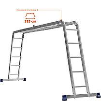 Лестница-трансформер Сибин, число ступеней 4 х 5, алюминий, макс. нагрузка 100 кг (38853), фото 2