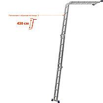 Лестница-трансформер Сибин, число ступеней 4 х 5, алюминий, макс. нагрузка 100 кг (38853), фото 3