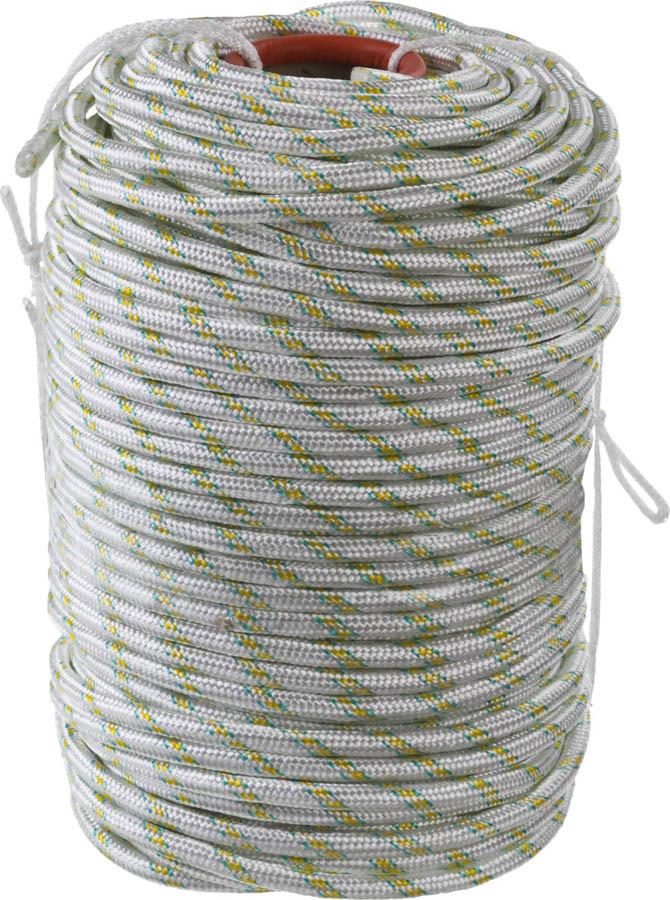 Фал плетёный полипропиленовый с сердечником Сибин, 100 м, 12 мм, 24-прядный, 2200 кгс (50220-12)