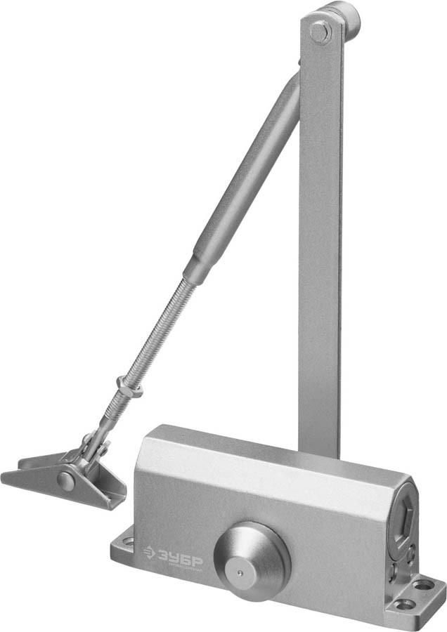 Доводчик дверной ЗУБР, вес двери 40 кг, высота 36 мм, материал силумин (37910-50)