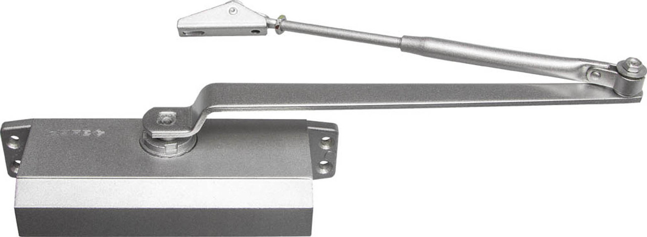 Доводчик дверной ЗУБР, вес двери 80 кг, высота 44 мм, материал силумин (37910-80)