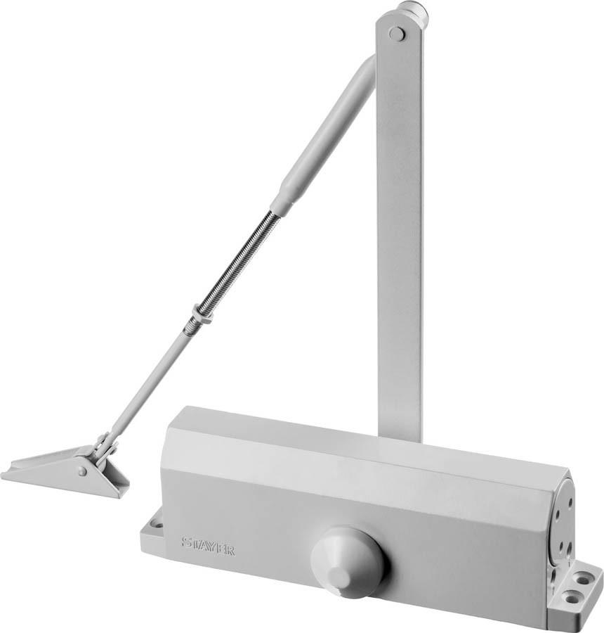 Доводчик дверной MAXComfort, Stayer, вес двери 100 кг, высота 50 мм, материал силумин (37916-100)