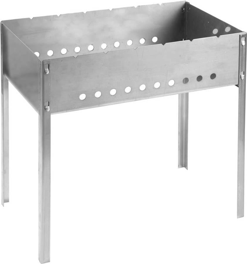 Мангал сборный BARBECUE, GRINDA 500 x 300 x 500 мм, нержавеющая сталь 1.5 мм (427784)