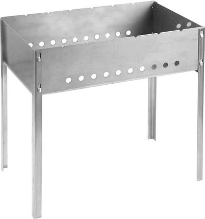 Мангал сборный BARBECUE, GRINDA 500 x 300 x 500 мм, нержавеющая сталь 1.5 мм (427784), фото 2