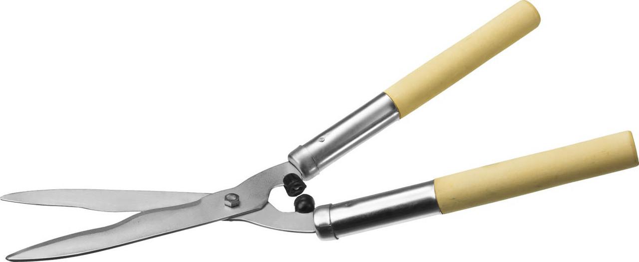 Кусторез Сибин, 500 мм, волнообразный профиль, стальные лезвия, никелевое покрытие (40208)
