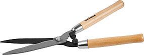 Кусторез Grinda, 500 мм, сталь, заточка лезвия, деревянные ручки (40252_z01)