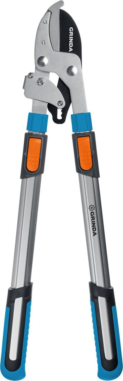 Сучкорез с храповым механизмом TX-980A, Grinda, 740 мм, телескопическая ручка (424513)