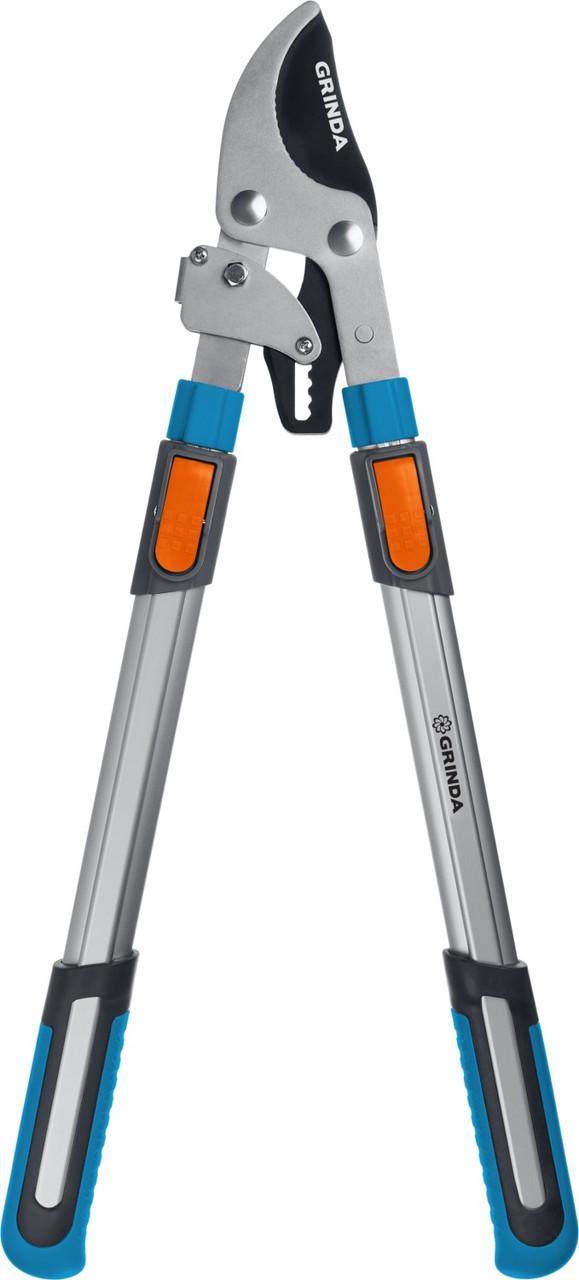 Сучкорез с храповым механизмом TX-980, Grinda, 740 мм, телескопическая ручка (424515)