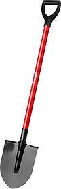 Лопата штыковая, ЗУБР, 270x210x1200 мм, стальное полотно, стальной черенок (39522)