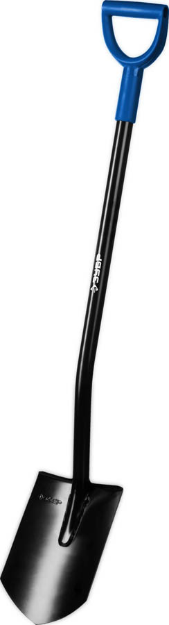 Лопата штыковая ЗУБР, стальной черенок, с рукояткой (39555)