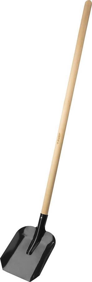 Лопата совковая ЛСП, ЗУБР, 346x235x1375 мм, стальное полотно, черенок из березы высшего сорта (39577)