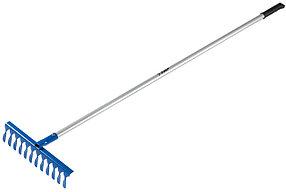 Грабли витые, ЗУБР, 1500 мм, 12 зубцов, алюминиевый черенок (39585-12)
