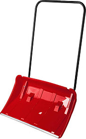 Движок снеговой (скрепер) Полюс, ЗУБР, 860 мм, пластиковый с алюминиевой планкой, с колесиками (39939)