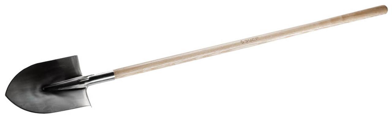 Лопата штыковая ЗУБР, 290х205х1500 мм, нержавеющая сталь, деревянный черенок (4-39401_z01)