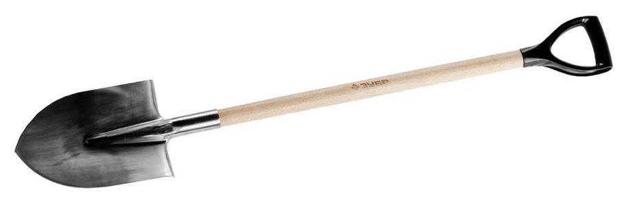 Лопата штыковая, ЗУБР, 290х205х1200 мм, из нержавеющей стали, деревянный черенок, с рукояткой (4-39402_z01), фото 2