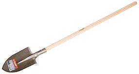 Лопата штыковая Титан, ЗУБР, 300х220х1440 мм, титановый сплав деревянный черенок (4-39416)