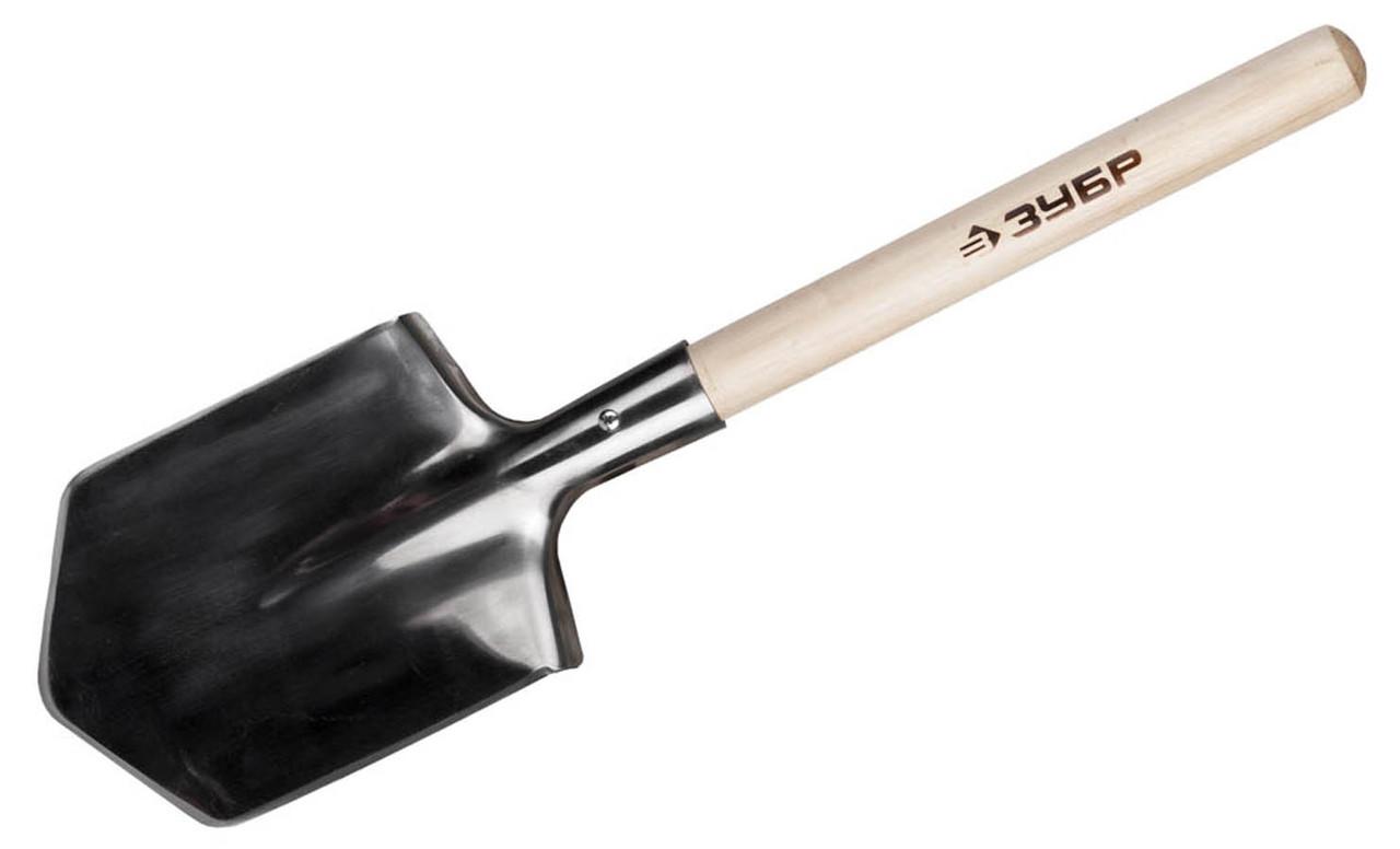 Лопата саперная ЗУБР, 190х145х550 мм, из нержавеющей стали (4-39441_z01)
