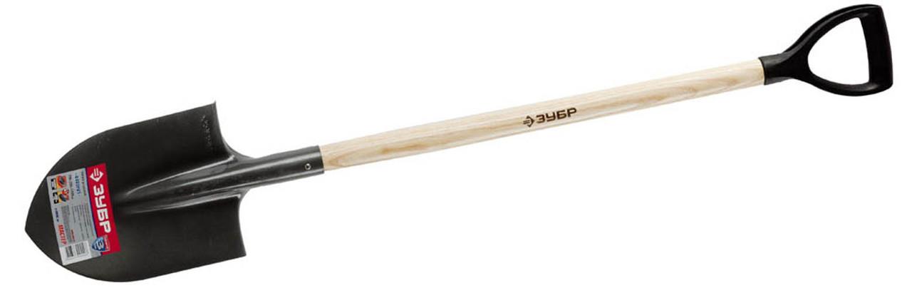 Kопата штыковая Фаворит, ЗУБР, 290х205х1200 мм, деревянный черенок (4-39502_z01)