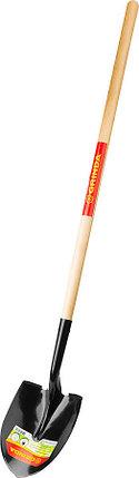 Лопата штыковая Grinda, 290x215x1500 мм, деревянный черенок (421824), фото 2