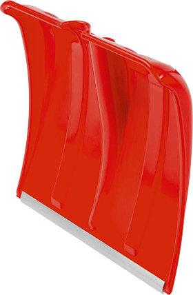 Лопата снеговая без черенка Сибин, 385x370 мм, пластиковая, красный (421832), фото 2