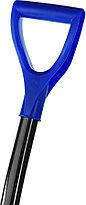 Лопата снеговая Сибин, 500x374 мм, пластиковая, алюминиевый черенок, синяя (421847), фото 2