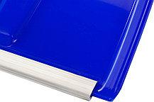 Лопата снеговая Сибин, 500x374 мм, пластиковая, алюминиевый черенок, синяя (421847), фото 3