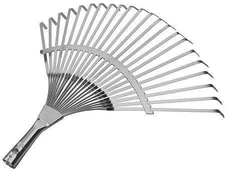 Грабли веерные, Raco, 450 мм, 22 плоских зубца, усиленные, гальваническое покрытие (4231-53/732), фото 2