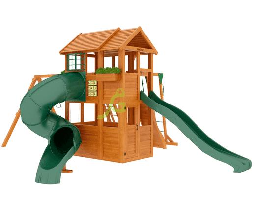 IgraGrad Клубный домик 2 с трубой и рукоходом