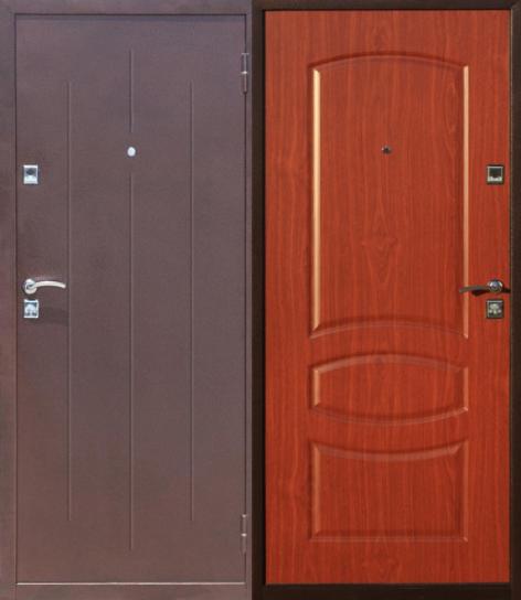 Дверь входная металлическая утепленная Стройгост 7-2 от.орех