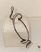 Золотое кольцо с бриллиантами «змея» 18 размер