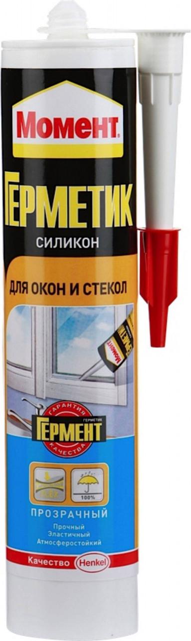 Герметик силиконовый МОМЕНТ для окон и стекол, прозрачный, 280мл