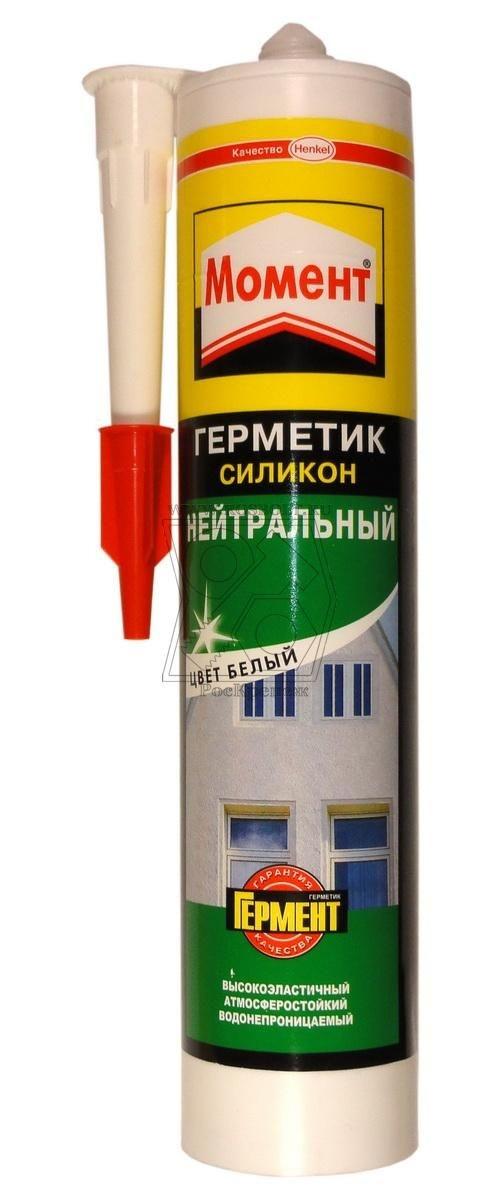 Герметик силиконовый МОМЕНТ Нейтральный, белый 280мл