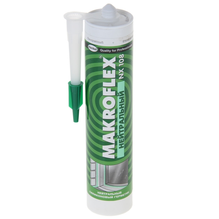 MAKROFLEX NX 108 Нейтральный Силиконовый герметик Белый, 290 мл