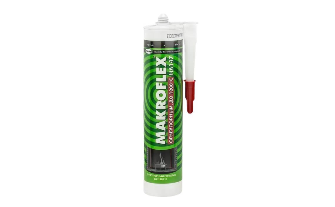 MAKROFLEX HA 147 Огнеупорный Герметика на основе силиката для герметизации соединений, Черный, 300 мл,