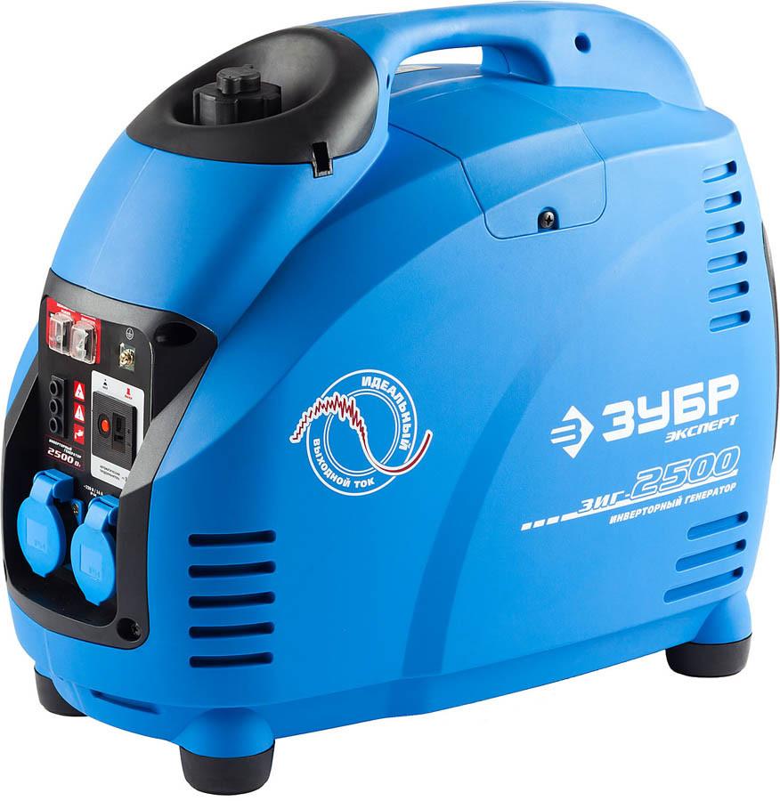 Генератор бензиновый, ЗУБР, 2.2/2.5 кВт, Инверторный, однофазный, синхронный  (ЗИГ-2500)