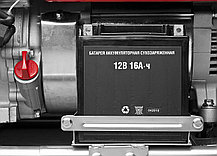 Генератор бензиновый, ЗУБР, 5.7/6.2 кВт, однофазный, синхронный, щеточный (ЗЭСБ-6200-ЭА), фото 3