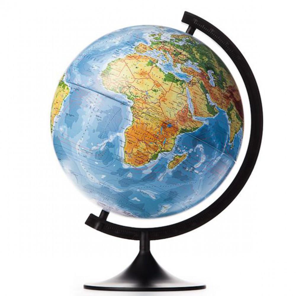 Глобус физический диаметр 25 см