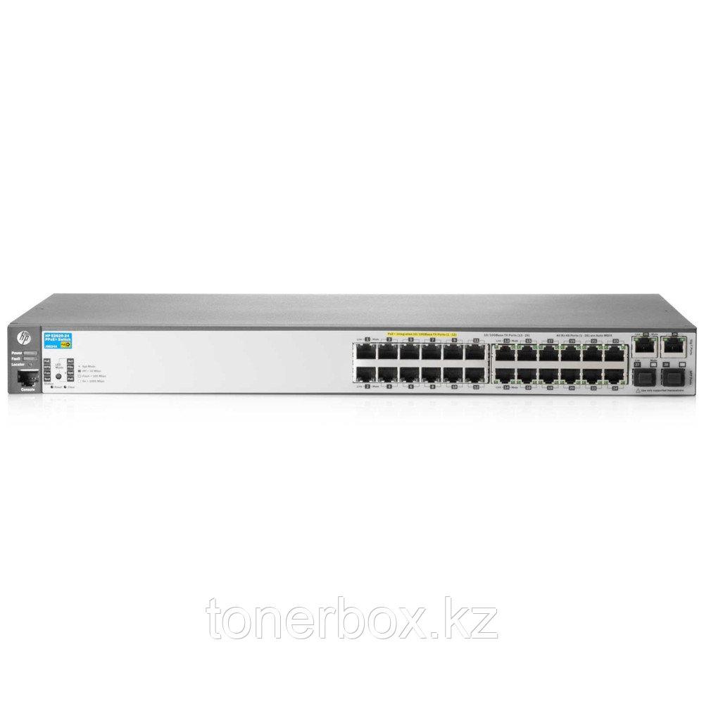 Коммутатор HPE 2530-24G-PoE J9773A (1000 Base-TX (1000 мбит/с), 4 SFP порта)