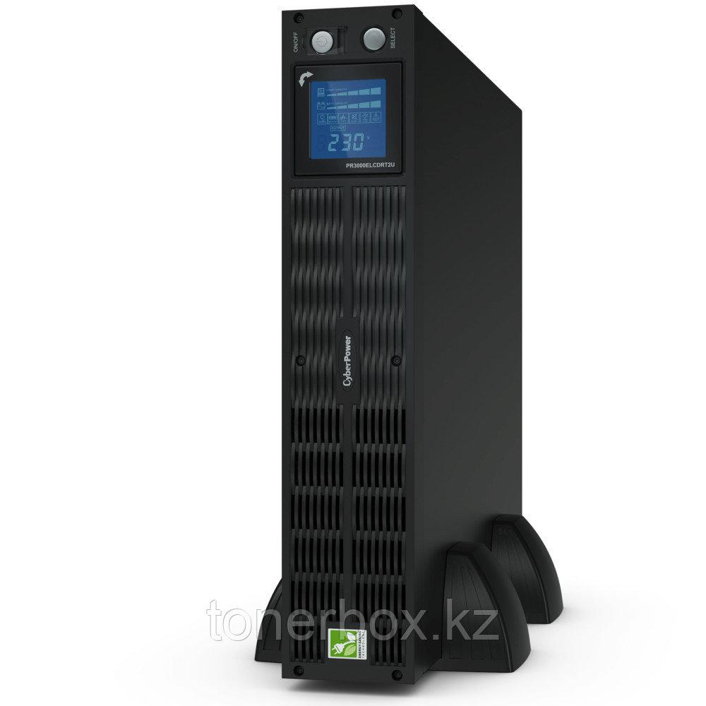 Источник бесперебойного питания CyberPower PR3000ELCDRT2U (Линейно-интерактивные, C возможностью установки в стойку, 3000 ВА, 2700 Вт)