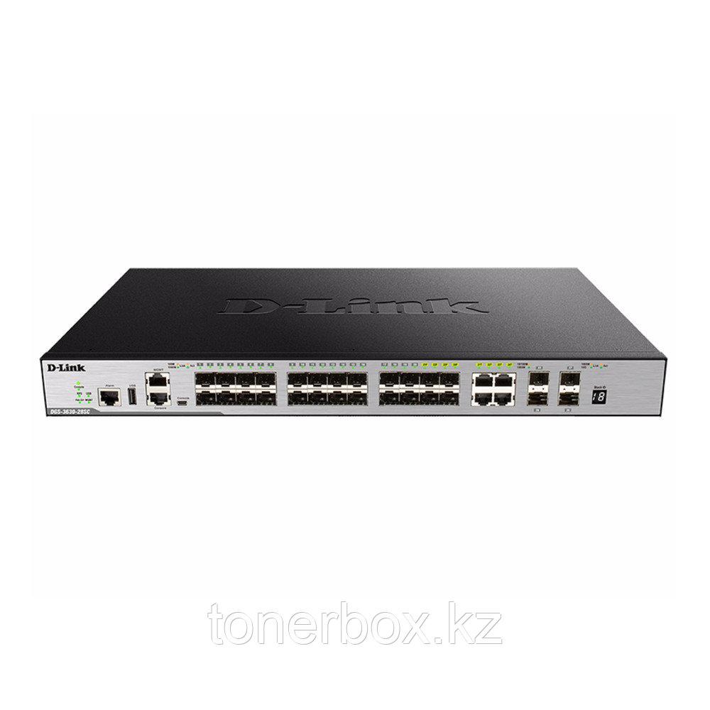 Коммутатор D-link DGS-3630-28SC DGS-3630-28SC/A1AMI (Без LAN портов, 24 SFP порта)