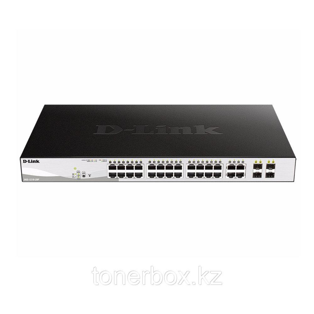 Коммутатор D-link DGS-1210-28P DGS-1210-28P/F1A (1000 Base-TX (1000 мбит/с), Без SFP портов)