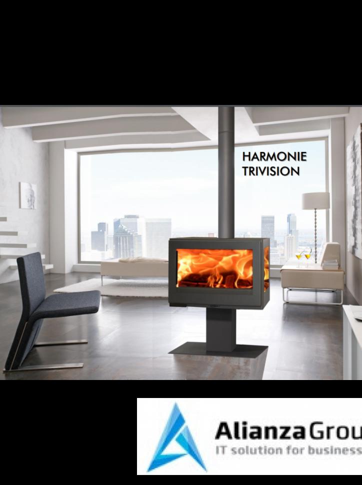 Печь-камин Panadero Harmonie Trivision