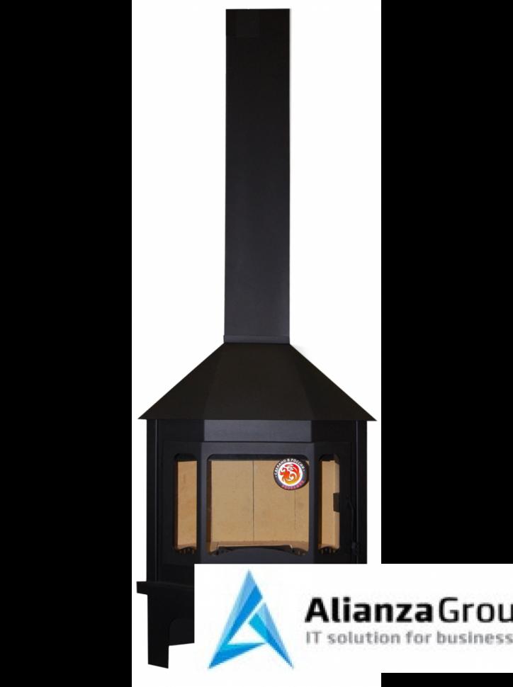 Печь-камин ЭкоКамин Мюнхен пристенно-угловой черный