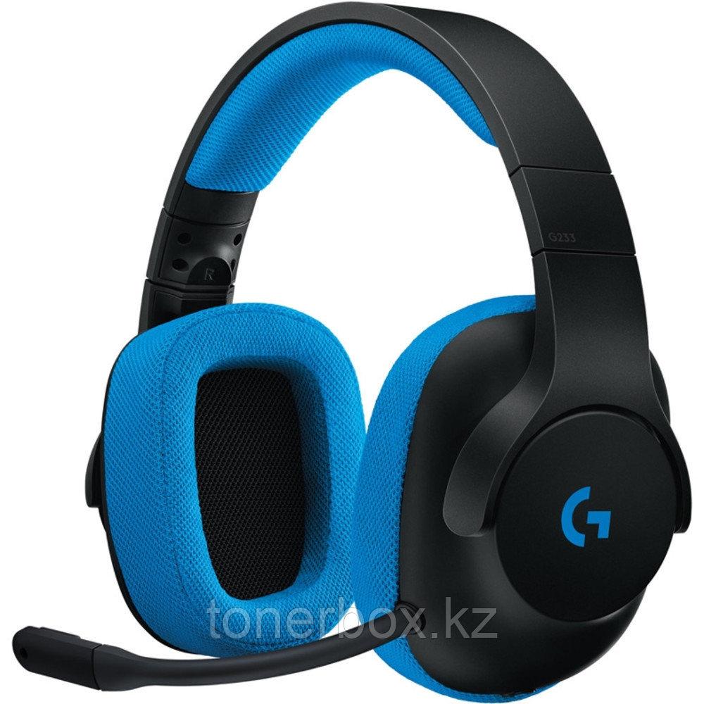 Наушники Logitech G233 Prodigy Gaming Black/Cyan L981-000703