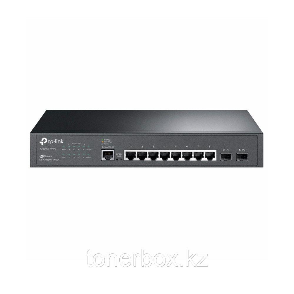 Коммутатор TP-Link T2500G-10TS(TL-SG3210) T2500G-10TS (TL-SG3210) (1000 Base-TX (1000 мбит/с), Без SFP портов)