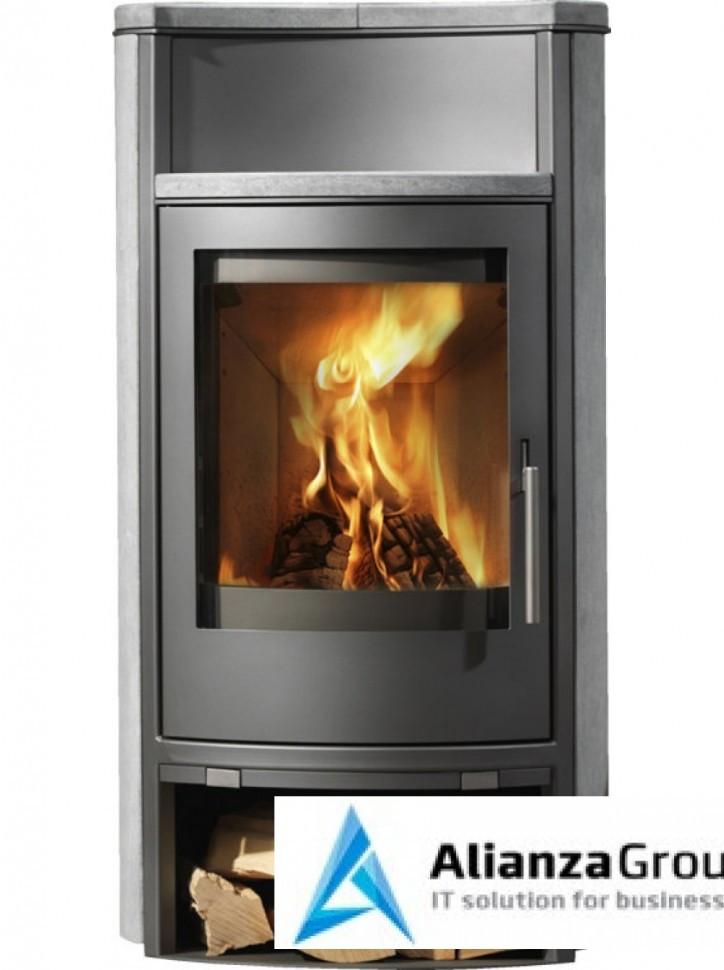 Печь-камин ABX Yago 5 (серая сталь, талькохлорит)