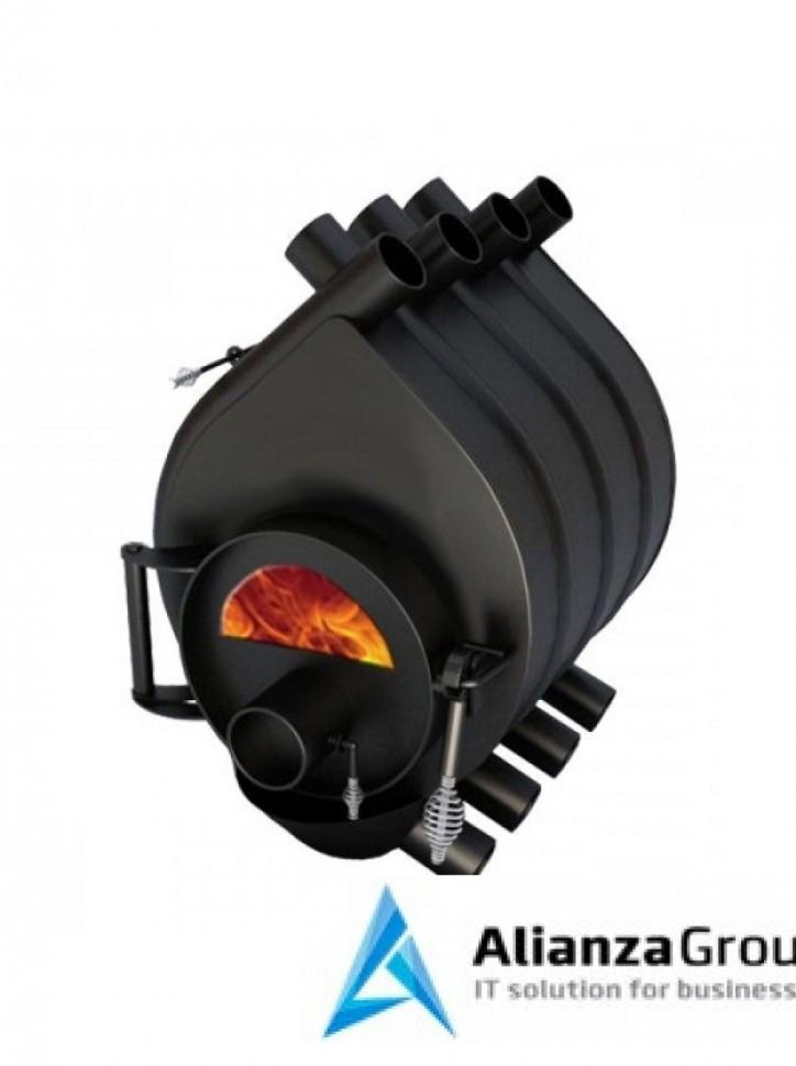 Отопительная печь Везувий АОГТ 200 м3 (01) стекло